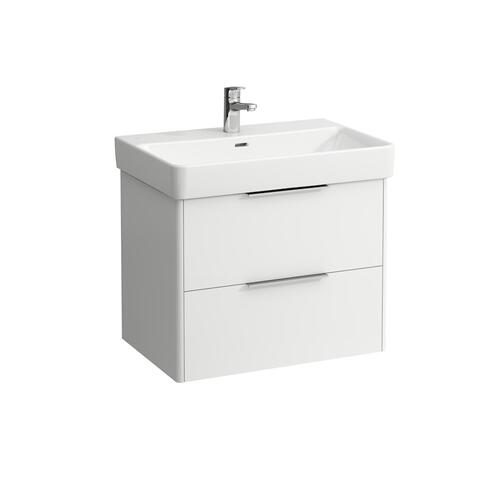 Traffic Grey Vanity unit, 2 drawers, incl. drawer organizer, matching washbasin 810967