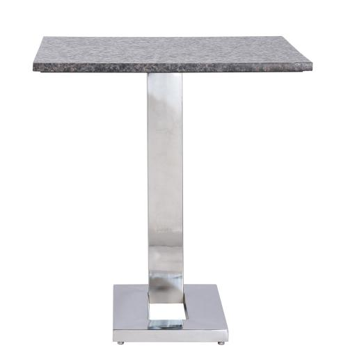 Square Side Table Top - Polished Chrome Finish