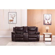 See Details - 8005 BROWN Air Leather Power Recliner w/ USB Loveseat
