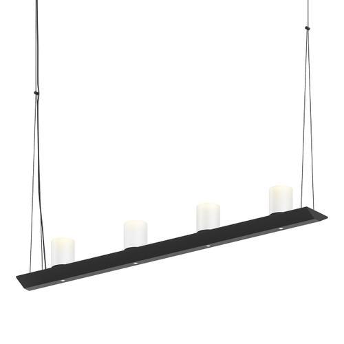 "Sonneman - A Way of Light - Votives LED Bar Pendant [Size=3', Color/Finish=Satin Black, Shade Size=3"" height x 2.25"" diameter]"