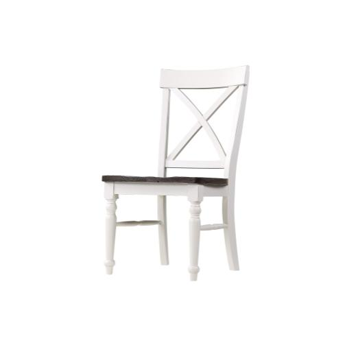 Emerald Home Mountain Retreat X-back Dining Chair Antique White W/brown Wood Seat D601-20-09