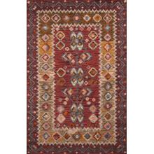 Tangier Tan-01 Red - 2.3 x 8.0 Runner