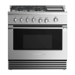 """Fisher & PaykelGas Range, 36"""", 4 Burners with Griddle"""