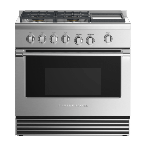 """Fisher & Paykel - Gas Range, 36"""", 4 Burners with Griddle"""