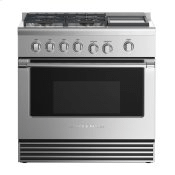 """Gas Range, 36"""", 4 Burners with Griddle"""