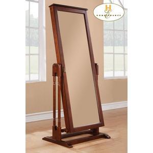 Gallery - Cheval Mirror with Jewlry Storage, Cherry