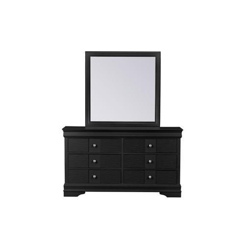 Wave Dresser W/Mirror, Black