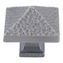 Product Image - Craftsman Square Knob 1 1/4 Inch - Pewter