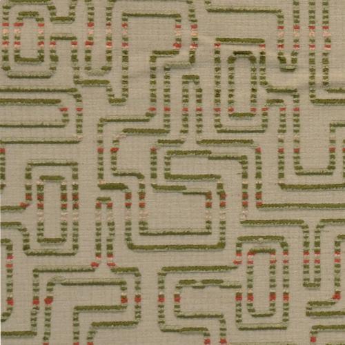 Labyrinth Olive Fabric