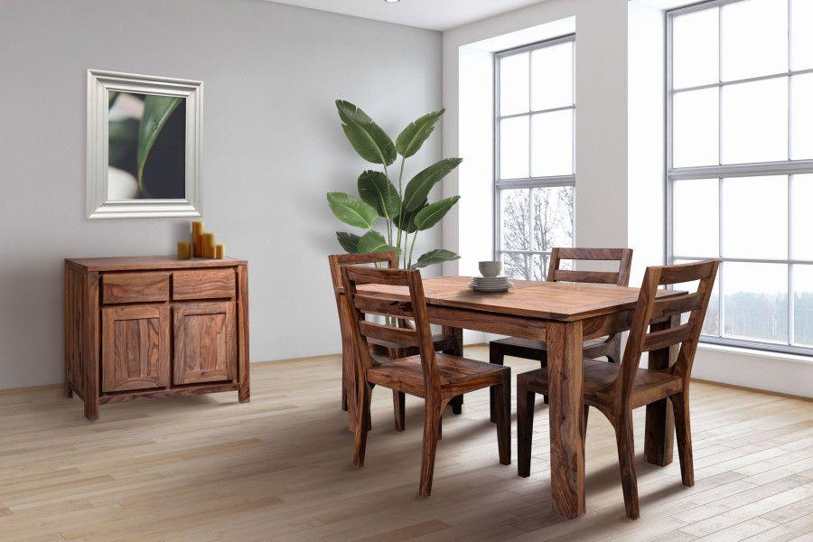 """Porter International DesignsUrban 52"""" Dining Table Set With 24"""" Butterfly Extension, Hc1126s01"""