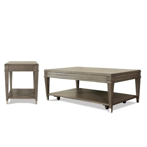 Rectangular Coffee Table - Gray Wash Finish