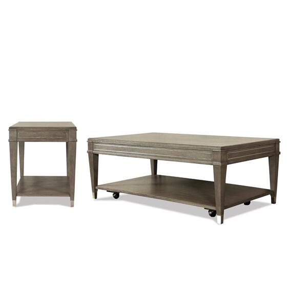 Riverside - Rectangular Coffee Table - Gray Wash Finish