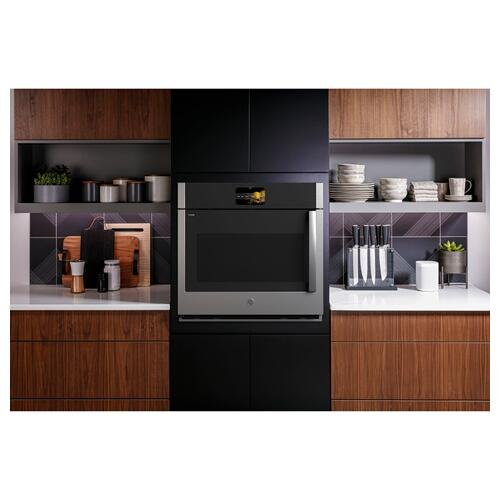 "GE Profile™ 30"" Smart Built-In Convection Single Wall Oven with Left-Hand Side-Swing Doors"
