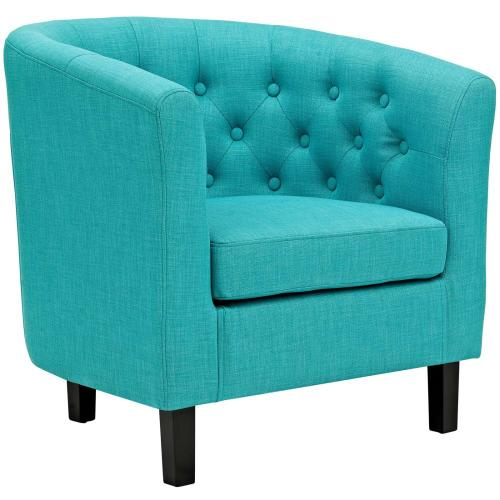Prospect 3 Piece Upholstered Fabric Loveseat and Armchair Set in Pure Water