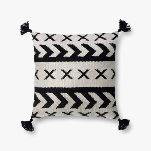 P0502 In/out Black / Ivory Pillow