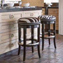 See Details - Zebrano Swivel Counter Stool - Backless