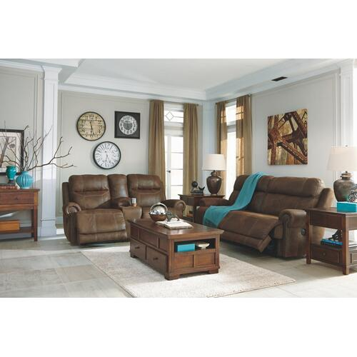 Austere Power Reclining Loveseat With Console