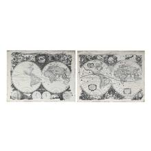 S/2 Antique Map Wall Art
