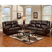 1000 Brandon Brown Reclining Sofa and Loveseat