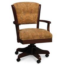 See Details - Venture Arm Desk Chair, Fabric Cushion Seat