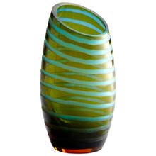 See Details - Lg Angle Cut Etched Vase