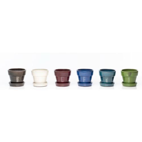 "Group Dynamics 6"" Petits Pots w/att saucer Assortment (6 colors, 2 of each)"