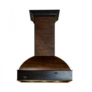 """Zline KitchenZLINE 36"""" Wooden Wall Mount Range Hood in Antigua and Walnut - Includes Motor (369AW-36) [Size: 36 inch]"""