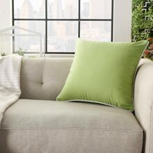 "Outdoor Pillows L9090 Green 18"" X 18"" Throw Pillow"