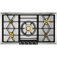 "200 series 200 series gas cooktop Black control panel Width 36"" (90 cm) Liquid gas Up to 59,700 BTU (17 kW) on 5 burners"