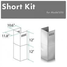 See Details - ZLINE 2-12 in. Short Chimney Pieces for 7.6 ft. to 8 ft. Ceilings (SK-696)