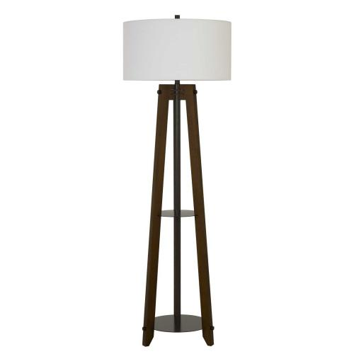 150W 3 Way Bilzen Ash Wood Tripod Floor Lamp