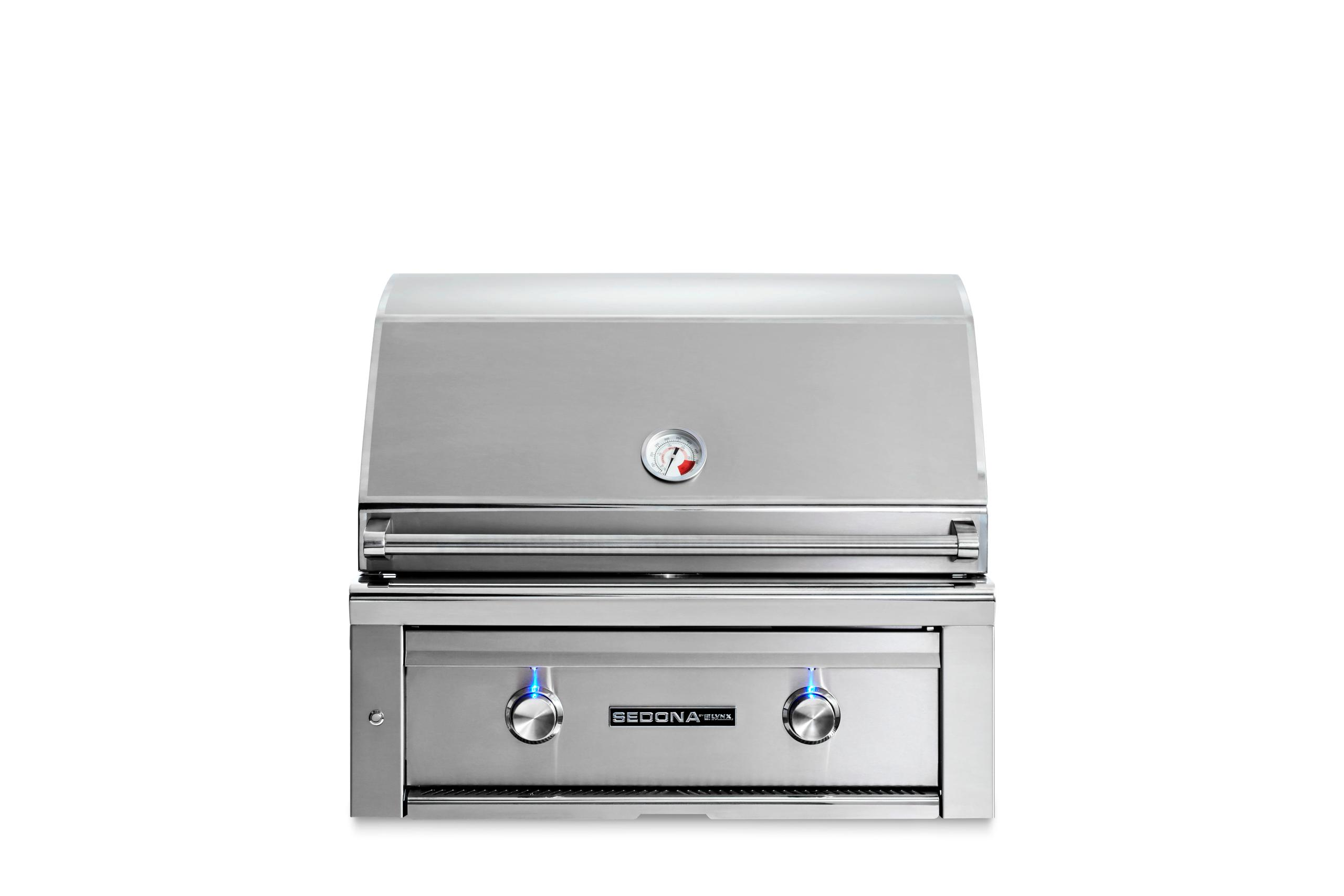 """Lynx30"""" Sedona By Lynx Built In Grill With 2 Stainless Steel Burners, Lp"""