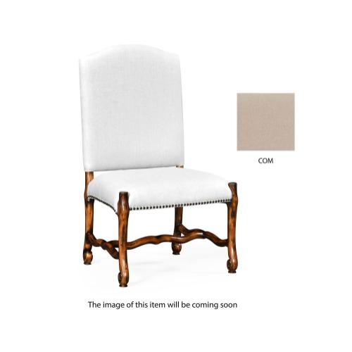 Upholstered side chair in Rustic Walnut (COM)