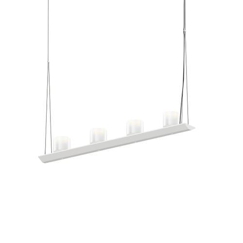 "Sonneman - A Way of Light - Votives LED Bar Pendant [Size=3', Color/Finish=Satin White, Shade Size=3"" height x 3"" diameter]"