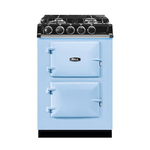 "AGA City 24"" Electric/Natural Gas Duck Egg Blue with Stainless Steel trim"