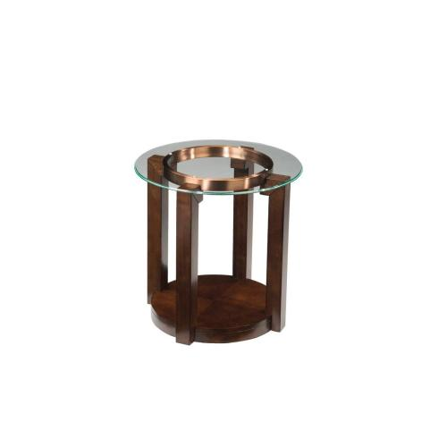 Coronado End Table with Casters, Brown