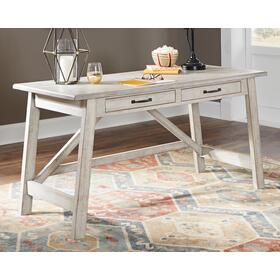 See Details - Carynhurst Home Office Large Leg Desk Whitewash