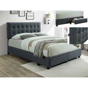 Antoine Kg Platform Bed W/usb Grey