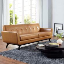 See Details - Engage Bonded Leather Sofa in Tan