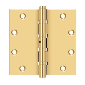 "5""x 5"" Square Hinges, Ball Bearings - PVD Polished Brass Product Image"
