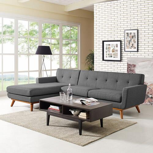 se Left-Facing Sectional Sofa in Gray