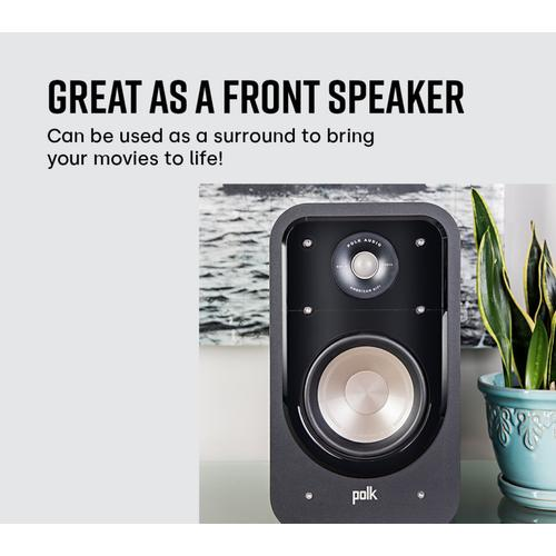 American HiFi Home Theater Bookshelf Speaker in WHITE