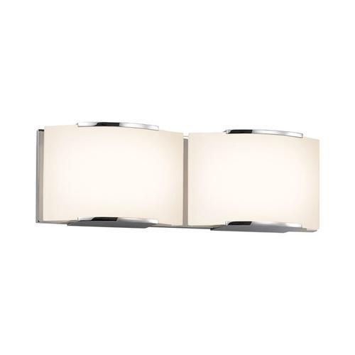 Sonneman - A Way of Light - Wave LED Bath Bar [Size=2-Light, Color/Finish=Polished Chrome]