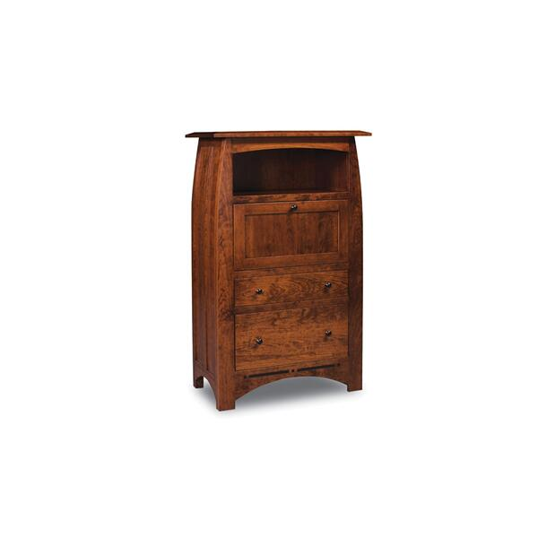 Aspen Laptop Cabinet with File Drawer and Inlay