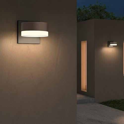 Sonneman - A Way of Light - REALS® Downlight LED Sconce [Color/Finish=Textured Gray, Lens Type=Plate Cap and White Cylinder Lens]