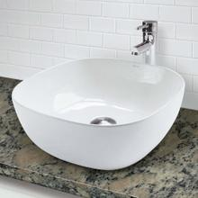 View Product - Classically Redefined Square Above-counter Vitreous China Bathroom Sink