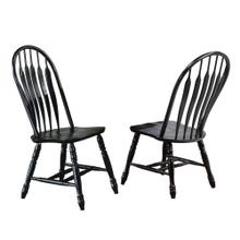 Comfort Back Dining Chair - Antique Black (Set of 2)