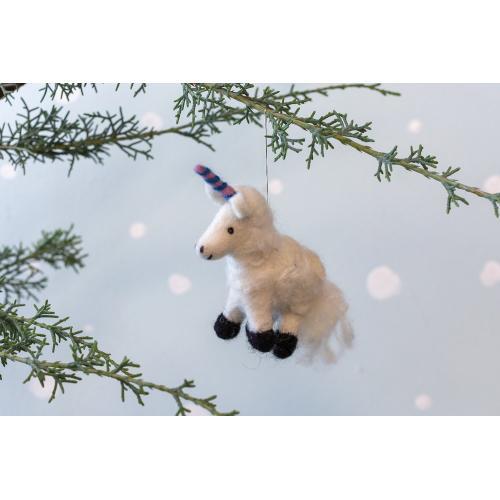 "6.25""x 1.75""x 4.5"" Sugarsnap Unicorn Ornament"