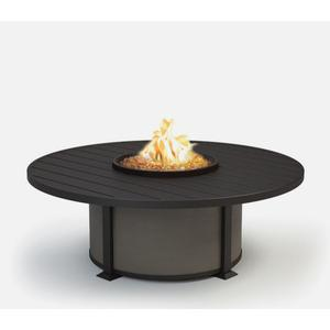 "54"" Round Coffee Fire Pit Ht: 19"" Valero Aluminum Base (Indicate Top/Frame & Side Panel Color)"