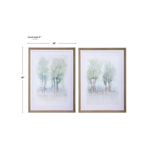 Meadow View Framed Prints, S/2